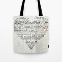 I hate love Tote Bag