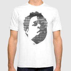 Dynamik Face Mens Fitted Tee White SMALL