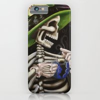 iPhone & iPod Case featuring Skeleton Tea Party by Geo-May