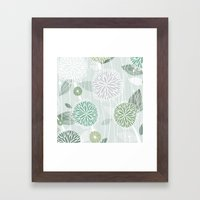 Abstract Floral By Frizt… Framed Art Print
