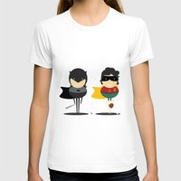 Heroes & super friends! Womens Fitted Tee White SMALL
