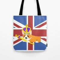Crown Corgi Tote Bag