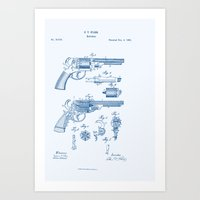 Bang Bang Revolver Paten… Art Print