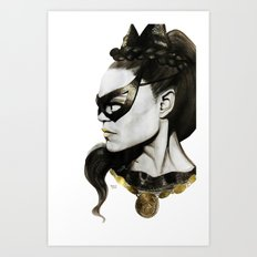 Eartha Kitt IS Catwoman Art Print