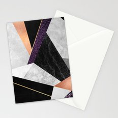 Purple Geo Stationery Cards