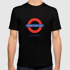 Mind The Gap Mens Fitted Tee Black SMALL
