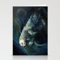 Polar Bear Swimming In N… Stationery Cards