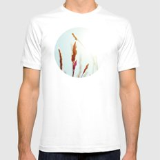 Nature Blue Reeds Mens Fitted Tee SMALL White