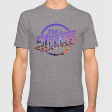 The Strokes Logo New York Night Mens Fitted Tee Tri-Grey SMALL