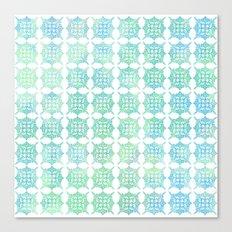 Pattern Play: Green/Blue Geometric  Canvas Print