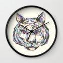 Crystal Tiger Wall Clock