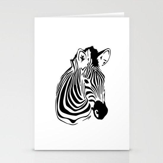 Zebra Stationery Card