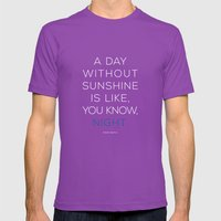 A Day Without Sunshine. Mens Fitted Tee Ultraviolet SMALL