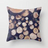 Firewood No. 1 Throw Pillow