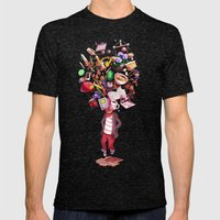 Inner World Mens Fitted Tee Tri-Black SMALL