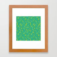 Bamboo Pattern Framed Art Print