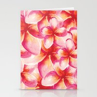 Plumeria Floral Watercol… Stationery Cards