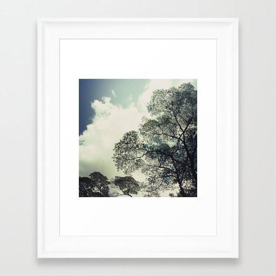 patterns of the tree Framed Art Print
