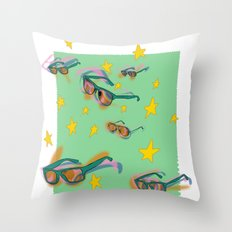 summer stamp Throw Pillow