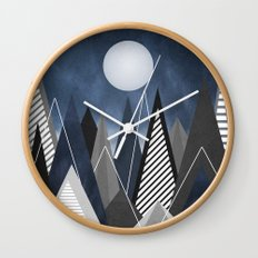 Midnight Mountains Wall Clock