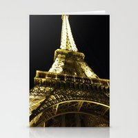 Tour Eiffel By Night Stationery Cards