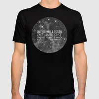 Put yourself out there Mens Fitted Tee Black SMALL