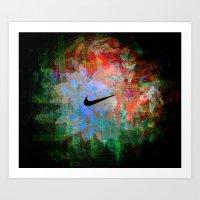 Nike Explosion Art Print