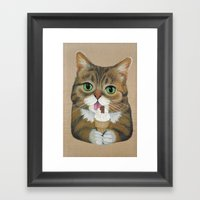 Lil Bub - Famous Cat Framed Art Print