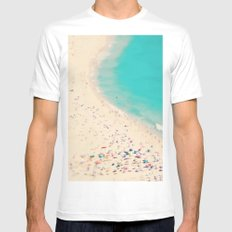 beach love III - Nazare SMALL White Mens Fitted Tee