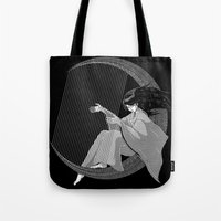 Crescent Melody Tote Bag