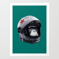 Astro Chimp Art Print