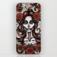 Blossoming Day of the Dead iPhone & iPod Skin