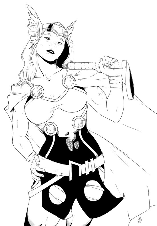 Tarene (Thor Girl) Art Print