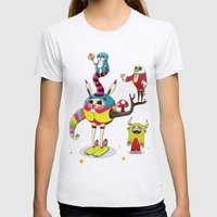 Candy Womens Fitted Tee Ash Grey SMALL