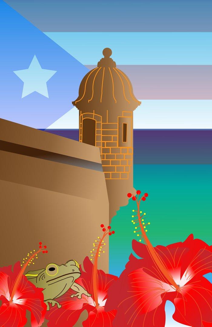 Puerto Rico Art Print By Padma Designs Pr Society6