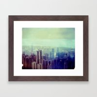 Hong Kong, Polaroid Framed Art Print