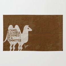 My - A camel is a horse designed by a committee - quote poster Rug