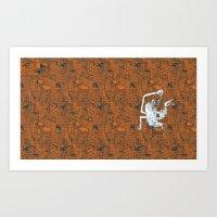 Monkey Town ! Art Print