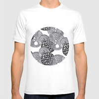 PLANETS Mens Fitted Tee White SMALL