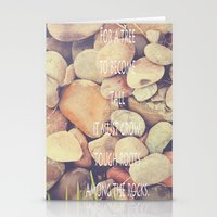 Rocks With Words Stationery Cards