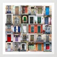 Thirty Doors Art Print