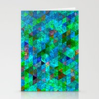 Colored Triangles Green … Stationery Cards