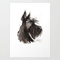 Scottish Terrier Profile Art Print