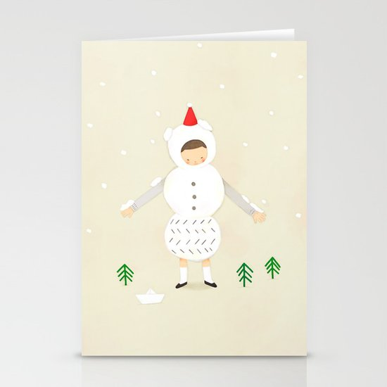 snow snow Stationery Card