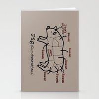 Bacon LOver Stationery Cards