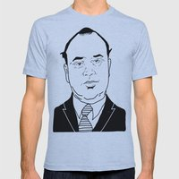 Al 'Scarface' Capone Mens Fitted Tee Athletic Blue SMALL