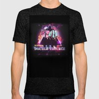 Love 80s Title Art Mens Fitted Tee Tri-Black SMALL