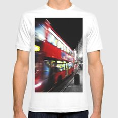 double decker Mens Fitted Tee SMALL White