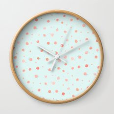 Watercolour Georgia Peaches Wall Clock
