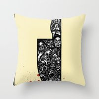 foul deeds Throw Pillow